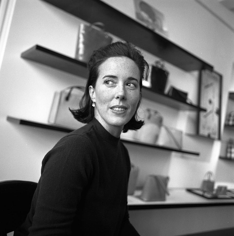 Kate Spade being interviewed in her New York showroom. (Photo: Thomas Iannaccone/Penske Media/REX/Shutterstock)