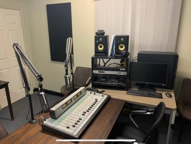 This is one of two rooms at the Michif radio station studio in Fort Smith, N.W.T. Vance Sanderson says the aim is to name this station Tapwe — meaning 'true' — FM.