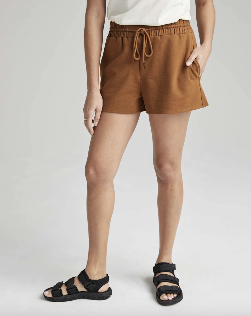 "This mid-weight pair is a fine option for anyone who likes their shorts to have a little heft. They're still super airy though thanks to the flare cut—and <a href=""https://cna.st/affiliate-link/2DU3NNvw694KuYPkg3RY8JKGzEHDdteP46jU3LAm4UNSJGZJ5y2K4VgCQuerZeVtP8sTQAaQZmJrwoBfeBpLAn7BDrh8CXjL99X6Xs2DL2NkR111mzADeMpxES17NwQX1q5CbgFFmrEKGAy6r85BNf2Bt6gvPQKwF7kkqii8a3H8Wb?cid=60709b18fa1c3ebbcaf3fdd9"" rel=""nofollow noopener"" target=""_blank"" data-ylk=""slk:enthusiastic reviewers"" class=""link rapid-noclick-resp"">enthusiastic reviewers</a> say they feel like <a href=""https://www.glamour.com/gallery/best-pajamas-loungewear-shopping?mbid=synd_yahoo_rss"" rel=""nofollow noopener"" target=""_blank"" data-ylk=""slk:pajamas"" class=""link rapid-noclick-resp"">pajamas</a> but actually look put together for running errands. $54, Richer Poorer. <a href=""https://richer-poorer.com/products/womens-terry-sweatshort?variant=39252427767904"" rel=""nofollow noopener"" target=""_blank"" data-ylk=""slk:Get it now!"" class=""link rapid-noclick-resp"">Get it now!</a>"