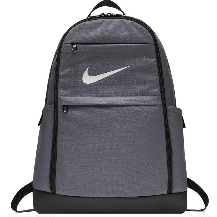 The shape of the NIKE Brasilia Backpack can better fit sports gear. (Photo: Walmart)