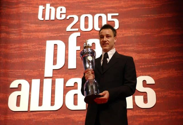 Terry won the PFA players' player of the year award that year (Chris Young/PA)