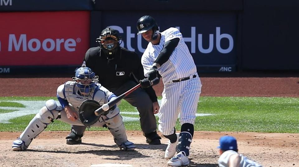 Gary Sanchez homers against Blue Jays