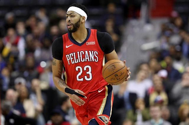 Anthony Davis scored a season-high 53 points as the New Orleans Pelicans overpowered the struggling Phoenix Suns 125-116, on February 26, 2018 (AFP Photo/Rob Carr)