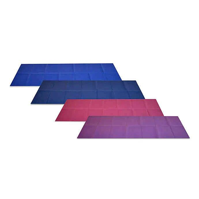 """<h3>YoFoMat Yoga Mat</h3><br><strong>Best For: Convertable</strong> <strong>Yoga</strong><br>The lines on this foldable yoga mat make it this a perfect pick to use during meditation mat or as a comfortable sitting cushion.<br><br><strong>The Hype: </strong>4.3 out of 5 stars and 6 reviews on <a href=""""https://www.bedbathandbeyond.com/store/product/yofomat-trade-yoga-mat/201978?strategy=recentlyViewed"""" rel=""""nofollow noopener"""" target=""""_blank"""" data-ylk=""""slk:Bed, Bath & Beyond"""" class=""""link rapid-noclick-resp"""">Bed, Bath & Beyond</a><br><br><strong>Yogis Say:</strong> """"I love this mat. The folds ensure I always use the clean side. It's comfortable and is great for stretching, exercises, and of course Yoga! I like that it folds up easily for travel as well!"""" — Goldbearla, Bed, Bath & Beyond Reviewer<br><br><strong>YoFoMat</strong> Yoga Mat, $, available at <a href=""""https://go.skimresources.com/?id=30283X879131&url=https%3A%2F%2Fwww.bedbathandbeyond.com%2Fstore%2Fproduct%2Fyofomat-trade-yoga-mat%2F201978%3Fstrategy%3DrecentlyViewed"""" rel=""""nofollow noopener"""" target=""""_blank"""" data-ylk=""""slk:Bed Bath & Beyond"""" class=""""link rapid-noclick-resp"""">Bed Bath & Beyond</a>"""