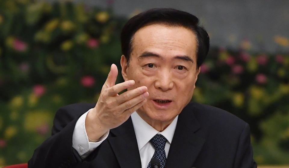 Xinjiang Communist Party Secretary Chen Quanguo, the highest ranking Chinese official in the region to have been sanctioned by the United States for alleged human rights abuses against Uygurs and other Muslim minorities. Photo: AFP