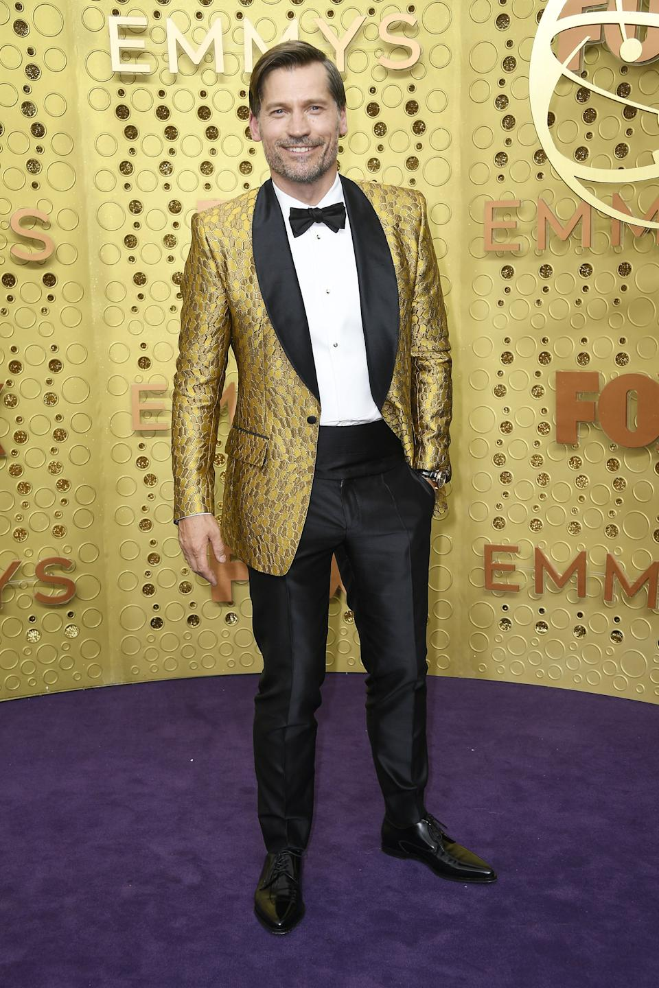 """<h1 class=""""title"""">Nikolaj Coster-Waldau in Dolce & Gabbana and Montblanc jewelry</h1><cite class=""""credit"""">Photo: Getty Images</cite>"""