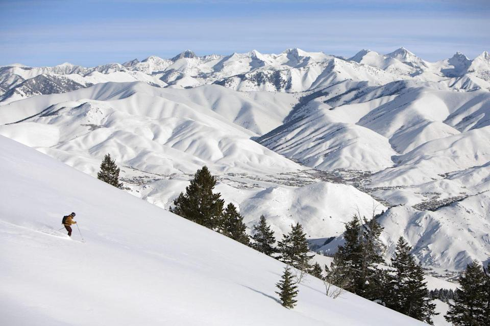 <p>Sun Valley, Idaho, boasts 120 sunny days out of its 150-day ski season, making it the perfect place to bundle up and find some joy this holiday season. This resort town is home to a gorgeous spa, ice skating, sleigh rides, and cozy restaurants that make it a lovely spot to hole up with your loved ones for 2020's final moments. </p>