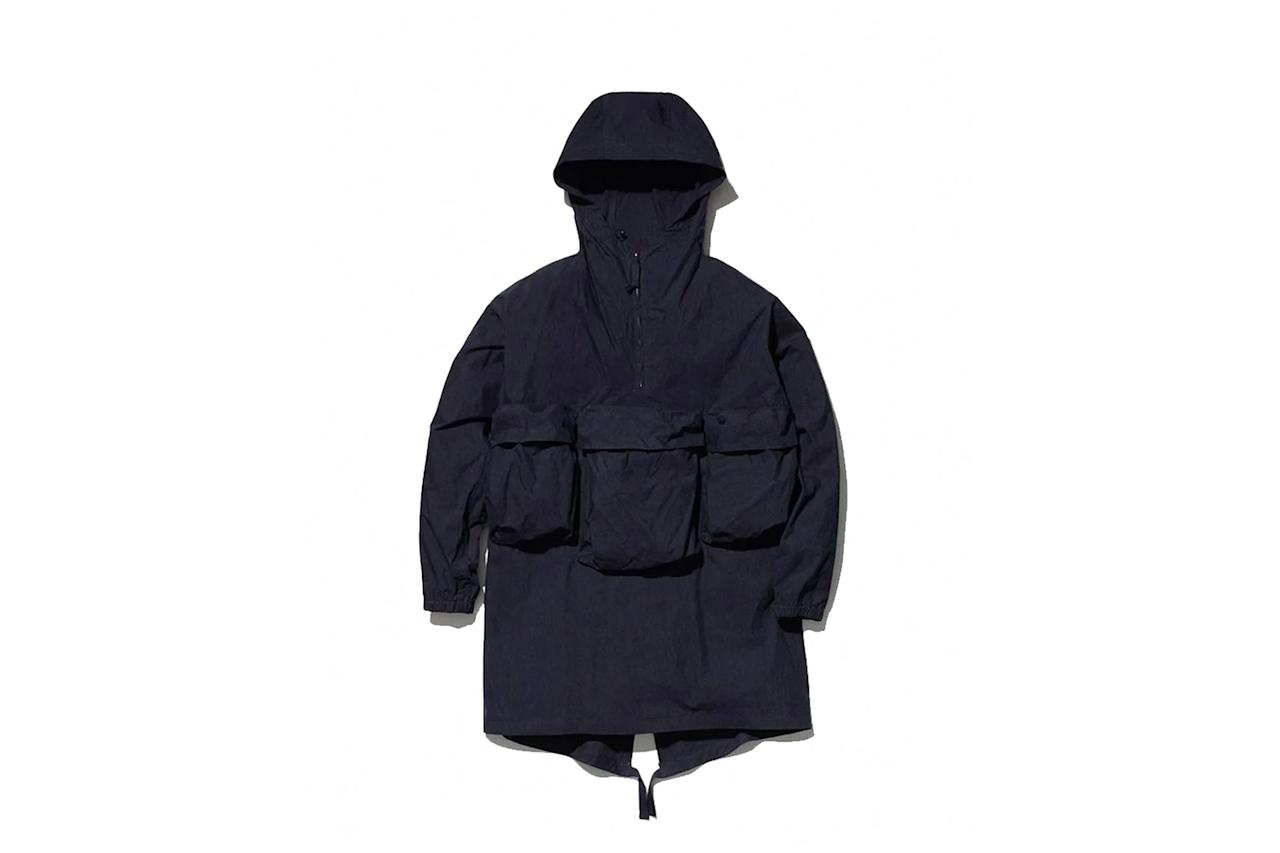 """A certifiable beast of a parka to keep primed and ready for when the weather (or, um, the entire world) goes full-tilt apocalyptic. —Yang-Yi Goh $710, Snow Peak. <a href=""""https://snowpeak.com/collections/outerwear-1/products/jk-19au009-indigo-c-n-anorak"""">Get it now!</a>"""