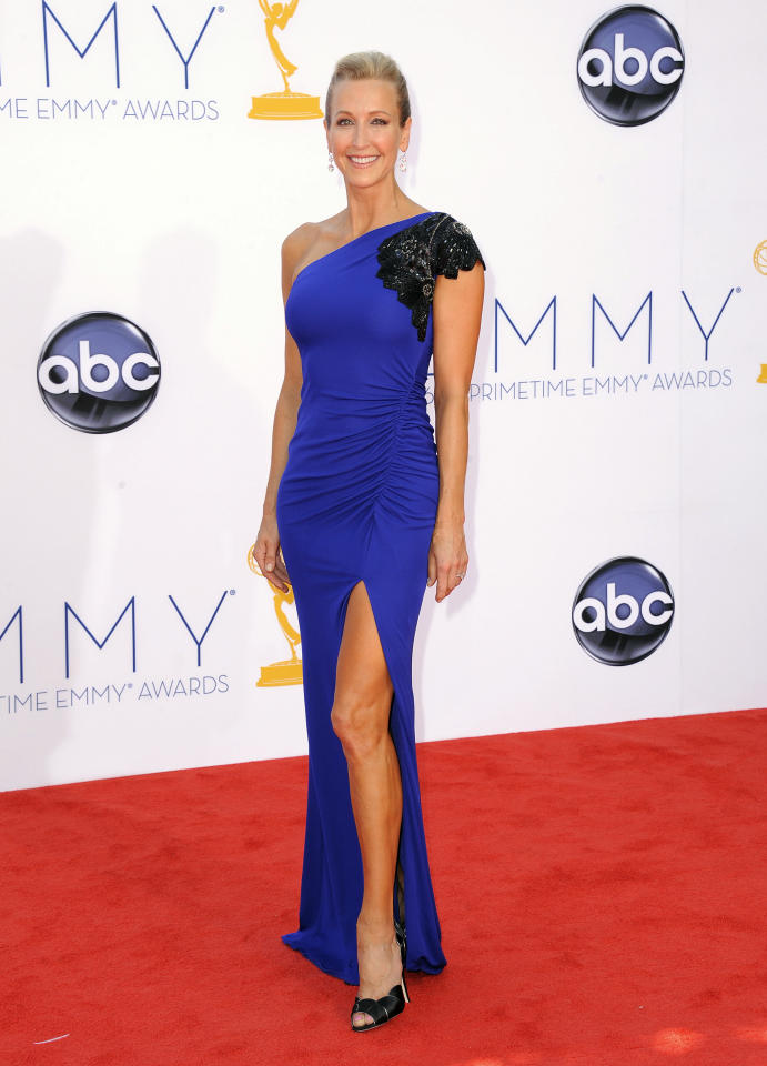 TV personality Lara Spencer arrives at the 64th Primetime Emmy Awards at the Nokia Theatre on Sunday, Sept. 23, 2012, in Los Angeles. (Photo by Jordan Strauss/Invision/AP)