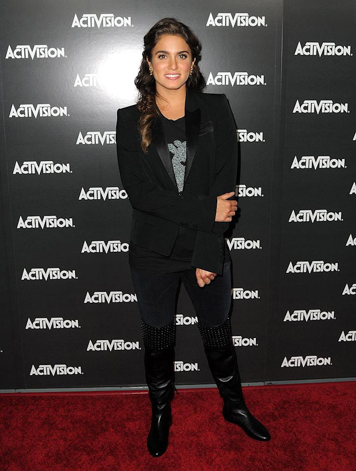"We're not sure what Nikki Reed was thinking when she donned those bedazzled boots, but they're really not flattering at all. Jordan Strauss<a href=""http://www.wireimage.com"" target=""new"">WireImage.com</a> - June 14, 2010"