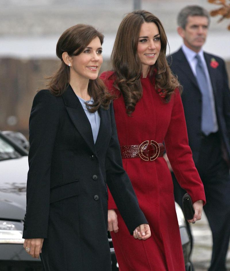 Princess Mary and Kate Middleton are already firm besties. Photo: Getty Images
