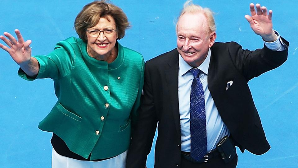 Margaret Court and Rod Laver, pictured here at the 2015 Australian Open.