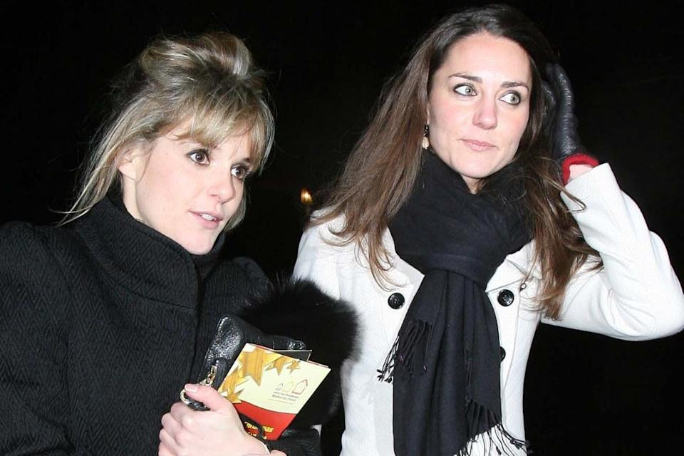 Sophie Carter and Kate attending a charity event in 2009 (Rex)