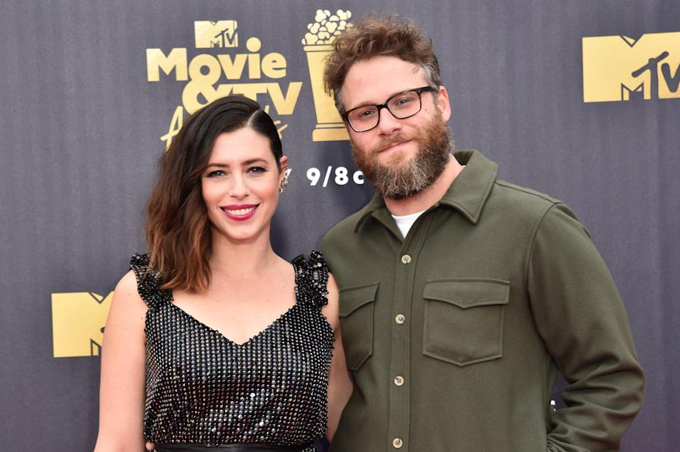 <p>File image: Seth Rogen and Lauren Miller at the 2018 MTV Movie And TV Awards</p> (Getty Images)