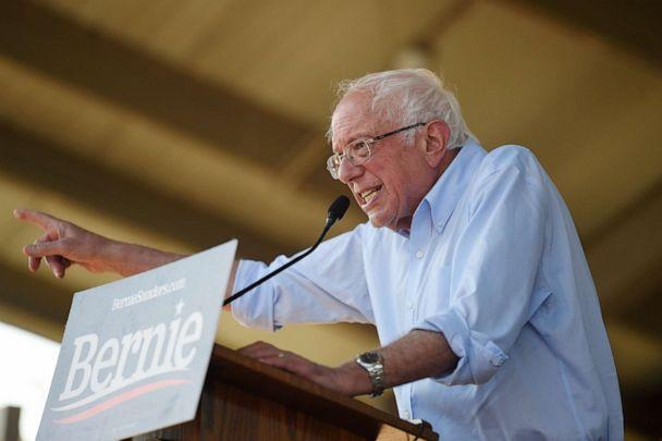 PHOTO: Democratic presidential contender Bernie Sanders addresses a Medicare for All town hall campaign event, Aug. 30, 2019, in Florence, S.C. (Meg Kinnard/AP)