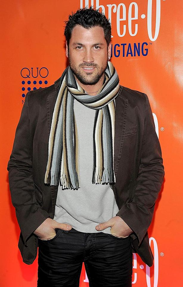 "After taking his photo op, ""Dancing With the Stars"" hunk Maksim Chmerkovskiy confirmed to <i>In Touch Weekly</i> that Pamela Anderson will definitely be strutting her stuff on the next season of the ABC hit series. Jamie McCarthy/<a href=""http://www.wireimage.com"" target=""new"">WireImage.com</a> - February 23, 2010"