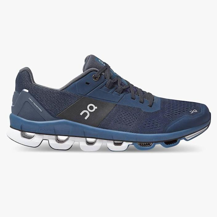 """<p><strong>on running</strong></p><p>on-running.com</p><p><strong>$199.99</strong></p><p><a href=""""https://go.redirectingat.com?id=74968X1596630&url=https%3A%2F%2Fwww.on-running.com%2Fen-us%2Fproducts%2Fcloudace%2Fmens&sref=https%3A%2F%2Fwww.womenshealthmag.com%2Flife%2Fg32268112%2Fgifts-for-father-in-law%2F"""" rel=""""nofollow noopener"""" target=""""_blank"""" data-ylk=""""slk:Shop Now"""" class=""""link rapid-noclick-resp"""">Shop Now</a></p><p>If he enjoys running on pavement, these are an amazing gift. The Swiss running brand's latest road running shoe offers maximum support with tons of style.<br></p>"""
