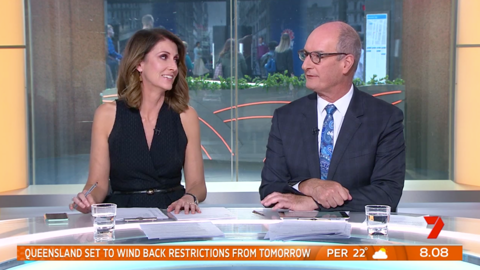 Kylie Gillies and Kochie on Sunrise