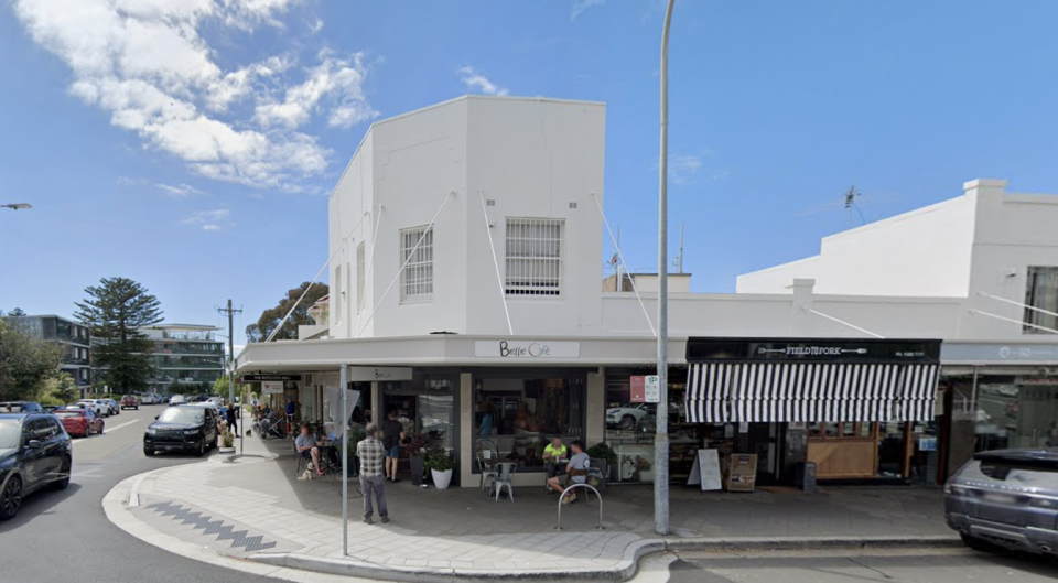 The driver believes another patron at the Belle Cafe in Vaucluse gave him Covid-19, despite NSW Health treating him as patient zero. Source: Google Maps