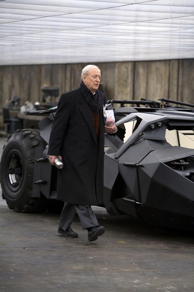 """<a href=""""http://movies.yahoo.com/movie/contributor/1800014833"""">Michael Caine</a> as Alfred Pennyworth in Warner Bros. Pictures' <a href=""""http://movies.yahoo.com/movie/1809271891/info"""">The Dark Knight</a> - 2008"""