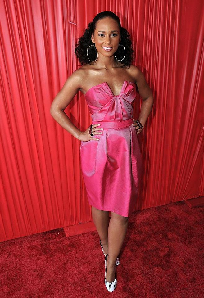 """Did Alicia Keys find this nightmare on the sale rack at Forever 21? Jeff Kravitz/<a href=""""http://www.filmmagic.com/"""" target=""""new"""">FilmMagic.com</a> - June 24, 2008"""