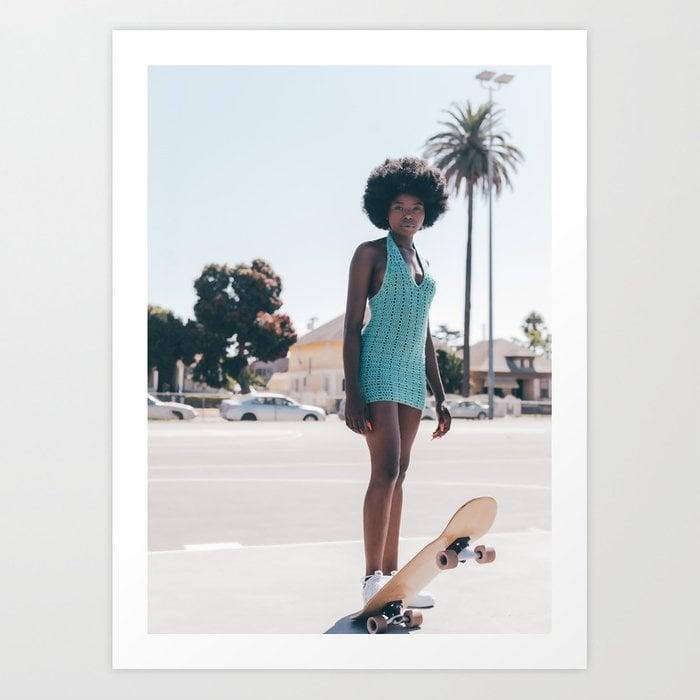 """<p>This <span>""""Cali Girl"""" Art Print by Travis Geter</span> ($25, originally $31) is my ideal summer vibe.</p>"""