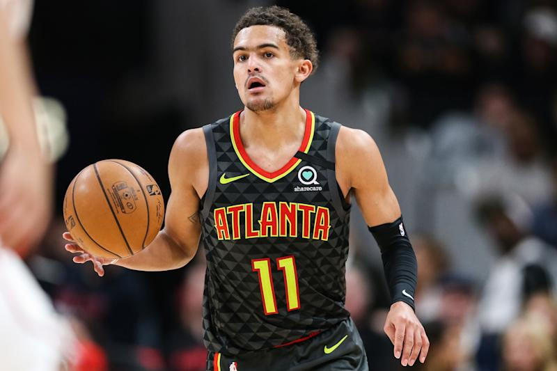 The Hawks tanked after a decade-long playoff run, landing likely All-Star Trae Young as a result. (Carmen Mandato/Getty Images)