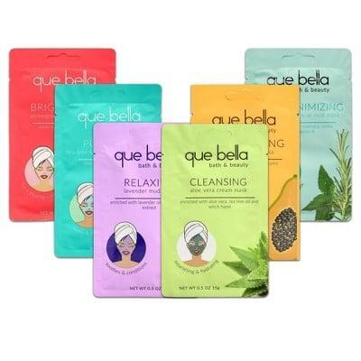<p>The <span>Que Bella Face Mask Pamper Pack</span> ($10) is for the sheet-mask aficionado.</p>