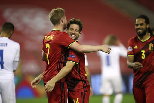 Belgium tops first FIFA rankings since pandemic shutdown
