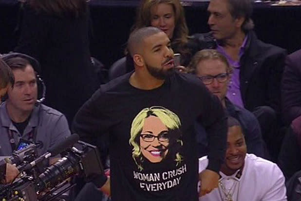 Drake wore a Doris Burke shirt to