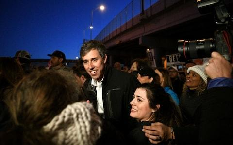 Beto O'Rourke, Democratic former Texas congressman, participates in an anti-Trump march in El Paso, Texas - Credit:  LOREN ELLIOTT/Reuters