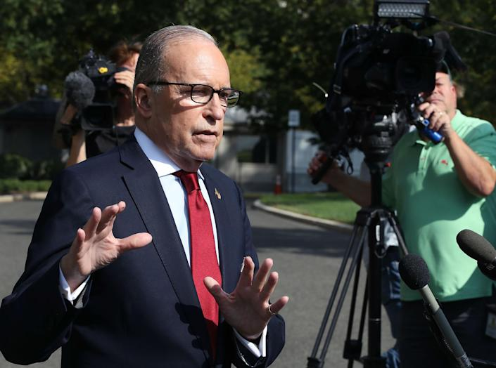 Larry Kudlow spoke on the drive of the White House: Getty