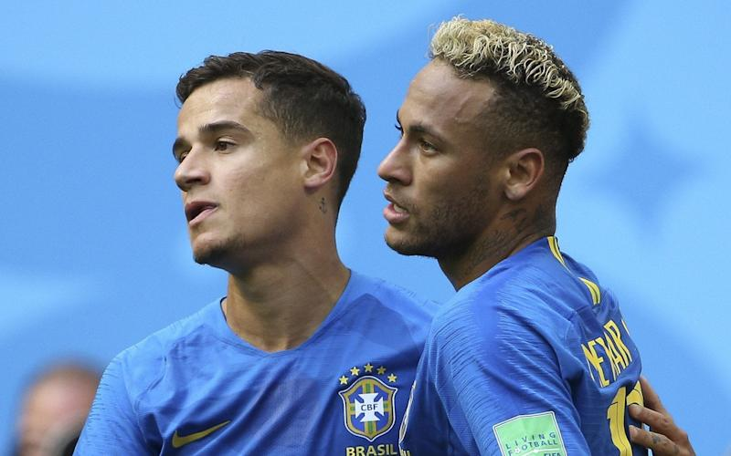 Philippe Coutinho and Neymar ensured Brazil beat Costa Rica late on during their Friday World Cup clash - Getty Images Europe