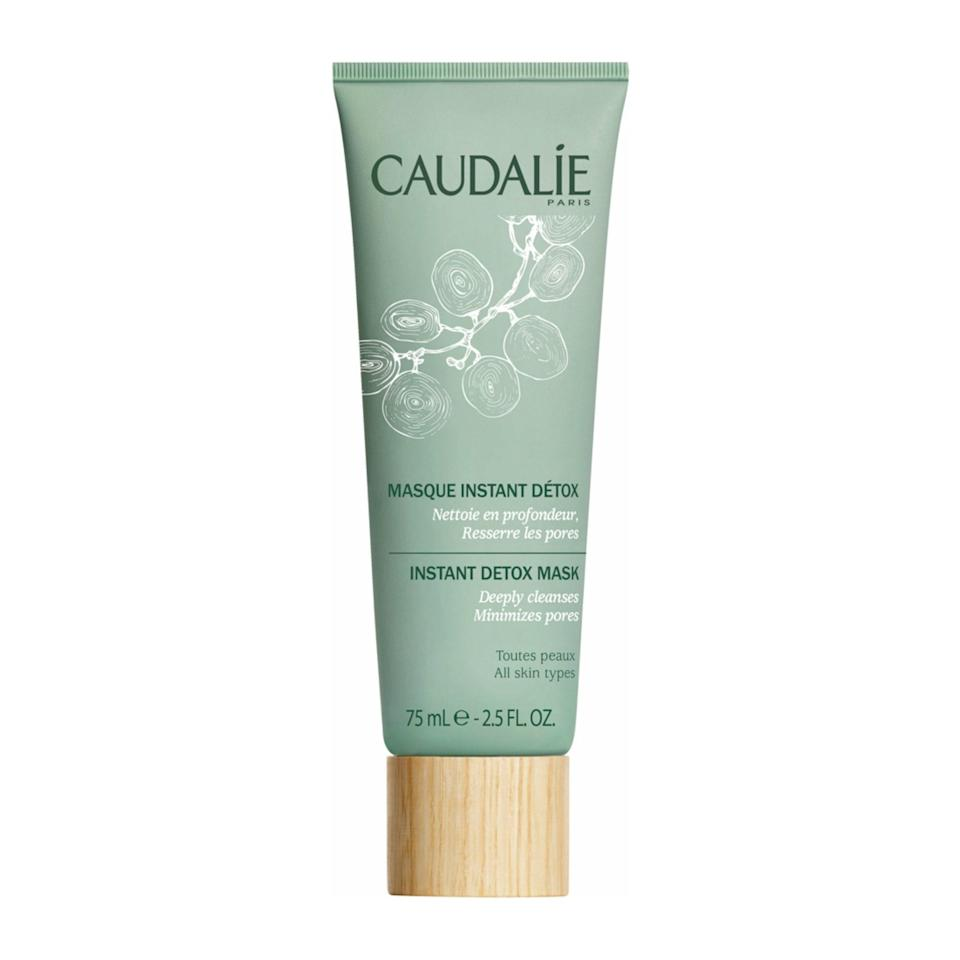 """<p>Combat excess oil and breakouts with the deep-cleansing Caudalie Instant Detox Mask, which contains papaya enzymes to brighten, plus pink clay and coffee to target blackheads.</p> <p><strong>$39</strong> (<a href=""""https://shop-links.co/1649920646916375211"""" rel=""""nofollow noopener"""" target=""""_blank"""" data-ylk=""""slk:Shop Now"""" class=""""link rapid-noclick-resp"""">Shop Now</a>)</p>"""