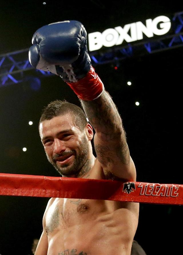 Argentina's Lucas Matthysse of Argentina is the World Boxing Association welterweight champion. (AFP Photo/JEFF GROSS)
