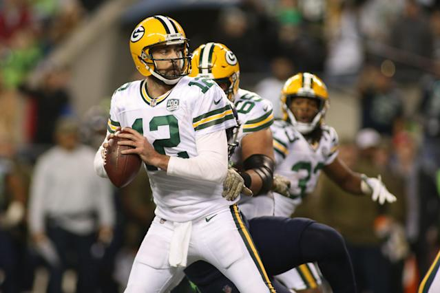 Aaron Rodgers and the Green Bay Packers are winless on the road this season