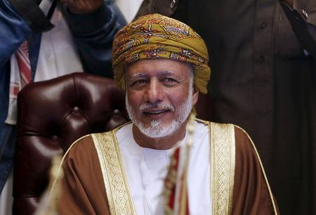 Oman's Foreign Minister Yusuf bin Alawi bin Abdullah attends a meeting for Gulf states Foreign Ministers in Riyadh