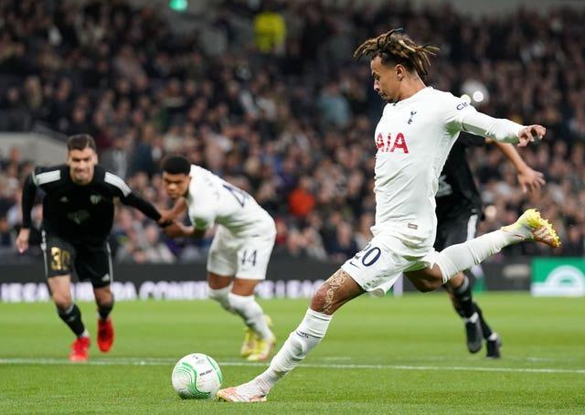 Dele Alli scored a penalty for Spurs in their 5-1 win over NS Mura on Thursday