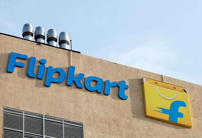 The logo of Flipkart is seen on the company's office in Bengaluru