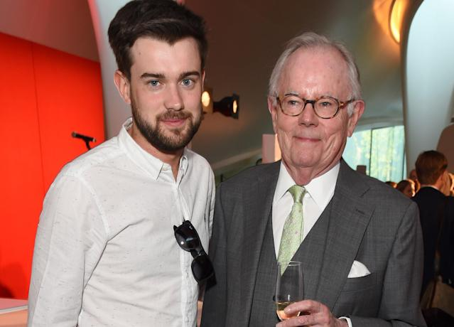 Jack Whitehall feared he had given his father Michael coronavirus. (Getty Images)