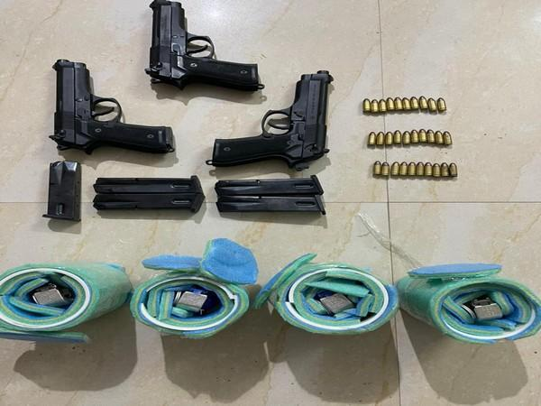 The weapons seized by police.