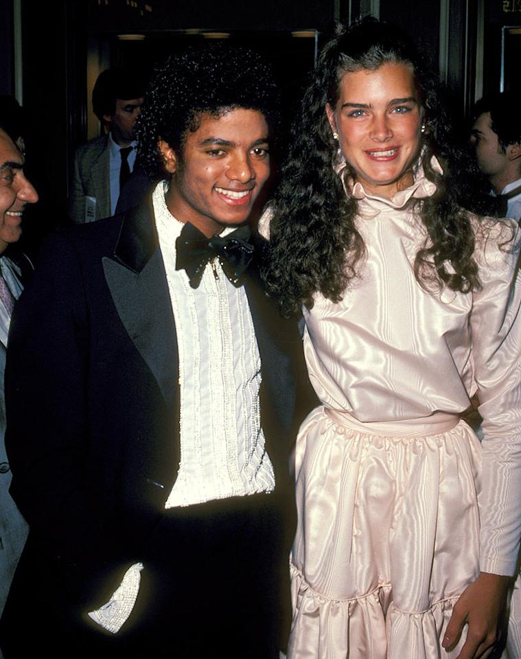 "The early '80s brought MJ more fame and success, along with tamer hair and famous friends. Brooke Shields accompanied Michael to the 53rd Academy Awards in 1981. Ron Galella/<a href=""http://www.wireimage.com"" target=""new"">WireImage.com</a> - March 31, 1981"