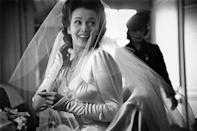 <p>Actress Carole Landis may have danced the Jitterbug to big band music, as was customary at the time, during her 1943 reception. Landis married Air Force captain Thomas Wallace on January 23. </p>