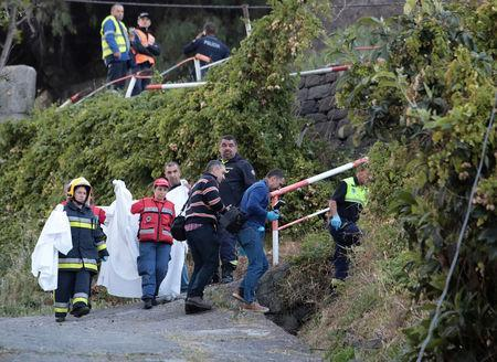 At least 29 killed in Madeira when tourist bus veers off the