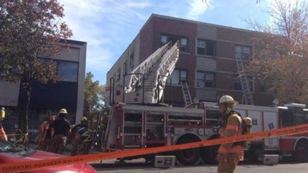 Emergency crews are at the scene of an explosion in Montreal's Rosemont borough that left 5 people injured