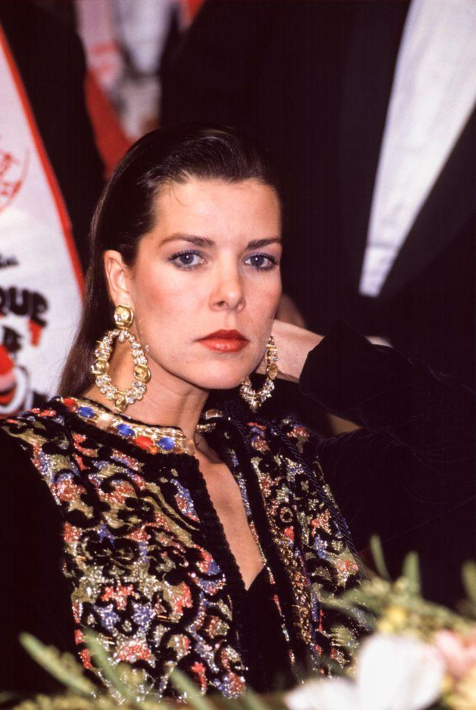 <p>The princess, in another maximally fabulous look, at a party in Monaco in 1989.</p>
