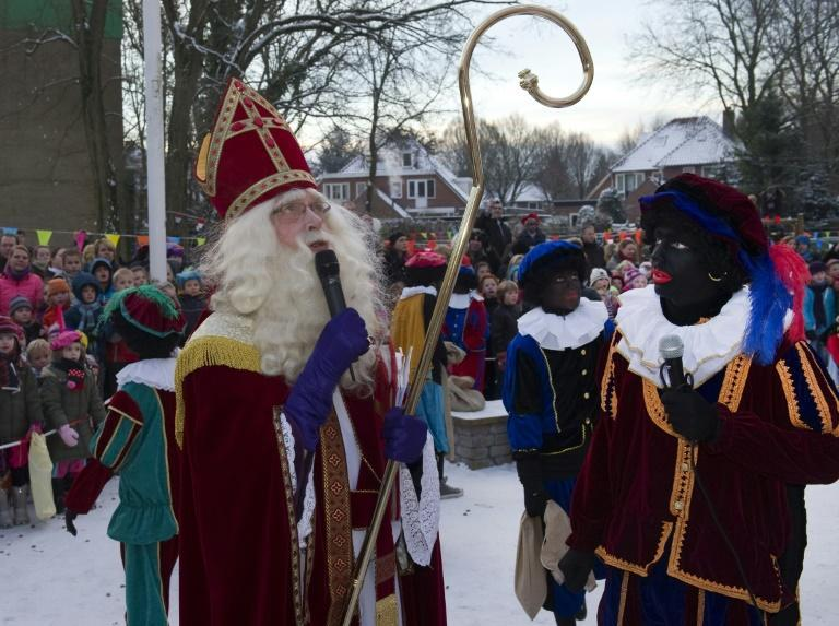 The Christmas season sees the arrival of Saint Nicholas and his sidekick Zwarte Piet, or Black Pete, who traditionally wears blackface, red lips and an afro wig -- and is regularly denounced for racist stereotyping