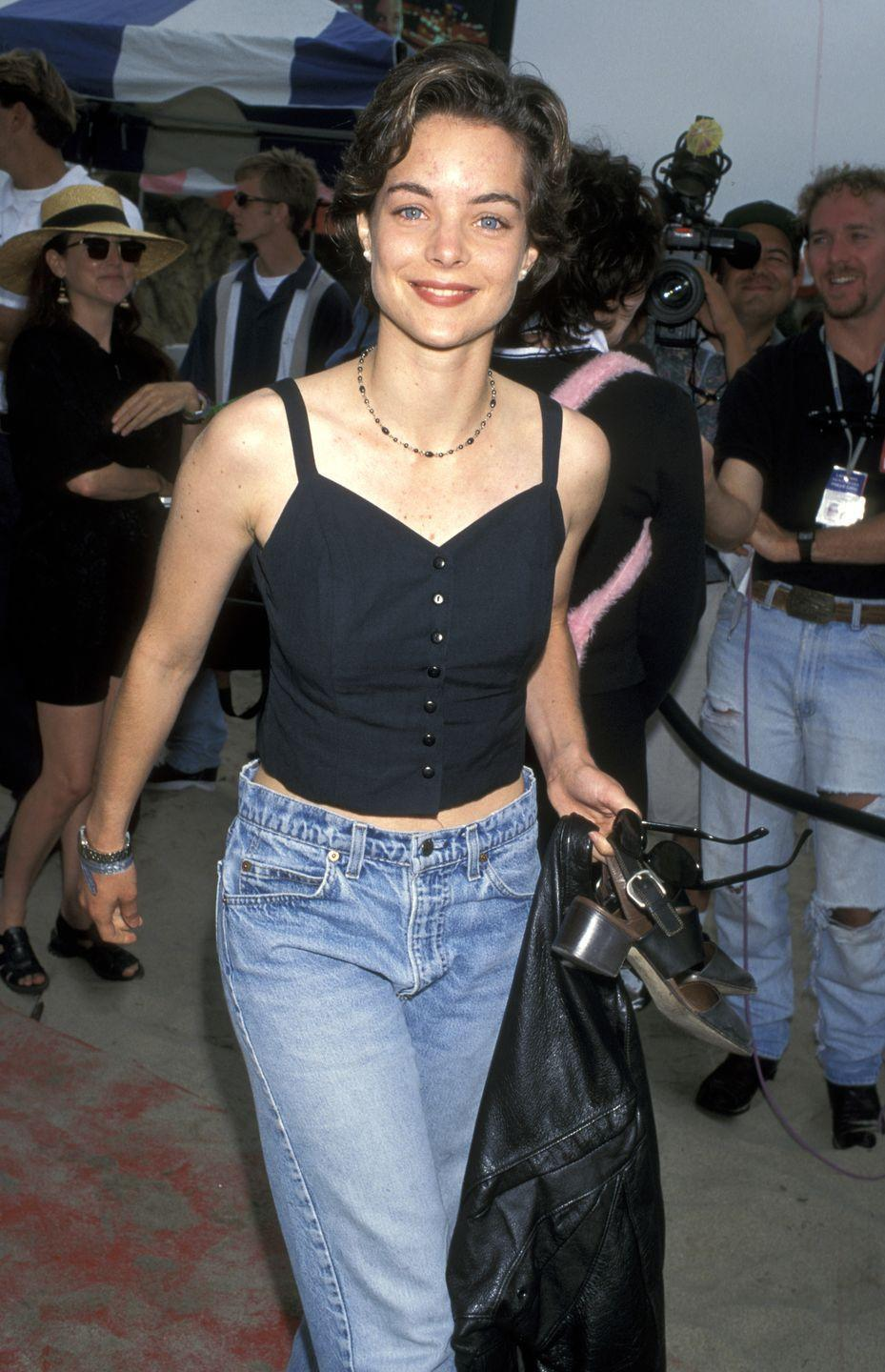 <p>Just a few months before she starred in <em>Father of the Bride Part II</em>, Williams graced the red carpet at the <em>Clueless</em> premiere wearing an extremely '90s outfit, choker, chunky heels, and all.</p>