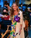 <p>The actress was also seen carrying a sequinned Fendi Baguette - a bag that Carrie made a cult style piece in the original series. </p>