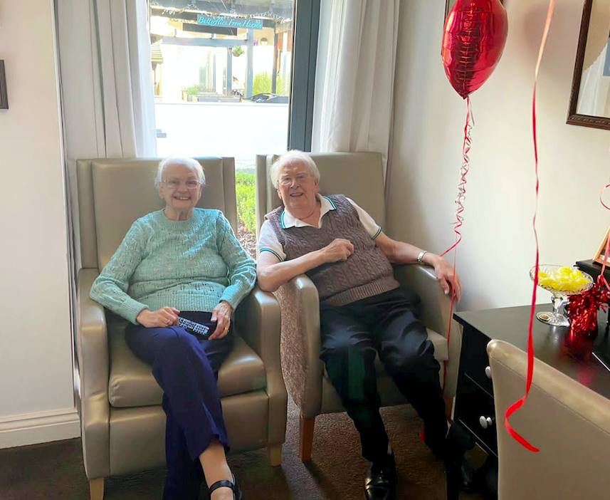 Betty and Kenneth Meredith were heartbroken after Kenneth moved into Bourn View Care Home, Birmingham, five weeks ago. (SWNS)